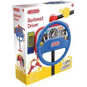 Casdon Backseat Little Driver Car Toy, Pretend Steering Wheel & Mobile Phone, 3+