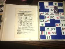 VINTAGE MAHJONG TILE GAME SET  MAH JONG & CASE W/ 148 TILES