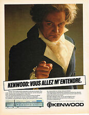 PUBLICITE ADVERTISING 044  1981  KENWOOD  ampli SIGMA  KA 1000