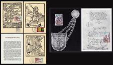 █ Lot 5 Cartes postales modernes LES MESSAGERS DE VILLE en ALSACE PTT █