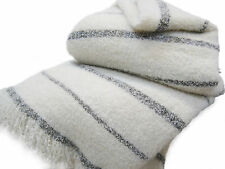 Wool & Angora Mohair Blankets, King / Queen Snow Blanket, All Natural