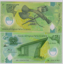 Papua New Guinea -  2 Kina polymer  Unc currency note