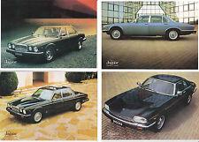 Four 1983 JAGUAR XJ6, SOVEREIGN, VANDEN PLAS & XJ-S HE Australian 2 Pp Brochures