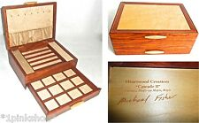 MIKE FISHERS' Heartwood Creations Cascade II Collection 2 Drawer Jewelry Box