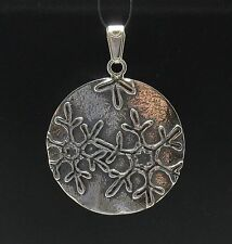 STERLING SILVER PENDANT SNOWFLAKE BIG QUALITY 925 NEW PE000427 EMPRESS SOLID