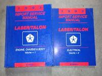 1993 Eagle Talon & Plymouth Laser Repair Service Shop Manual SET FACTORY 2 VOL