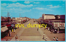 NJ Wildwood~BOARDWALK Looking North from PLAYLAND~Burgers & Hot Dogs~50s PC
