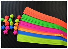 140 strips Origami Paper Star DIY. Folding Kit Lucky Wish Star Reflective colors