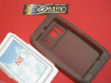 Case Cover for Nokia n8 Silicone Gel Transparent Charcoal Soft NEW