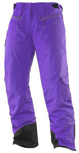 Ski Pants Snowboard Pants Snowpants, Ladies, Salomon Zero Pant W, Size L, Purple