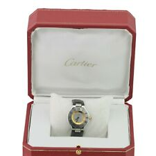 Cartier Ladies Watch Must De Cartier 21 Ref. 1330 18K Gold Plated Leather Band