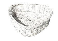 Heart Shape White Washed Wicker Easter Wedding Xmas Hamper Storage Gift Basket White Set of 4 Medium