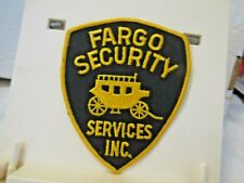 Fargo Security Services Inc. stagecoach patch NOS unused 5