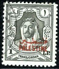 More details for transjordan occupation palestine sg.p16 £p1 high value 1948 superb used blblue70