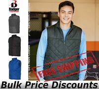 Badger Mens Weather Resistant Quilted Padded Vest 7660 up to 3XL