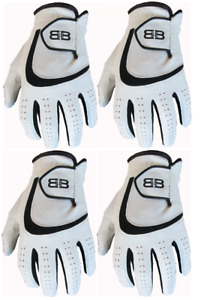 4 Back to Back All Weather Golf Gloves Cabretta Leather Palm Patch/Thumb 5 Sizes