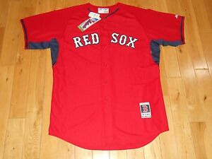 New Red BOSTON RED SOX Authentic Collection MLB Batting Practice Team JERSEY 48
