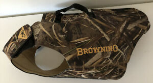 Browning Sporting Dog Neoprene Chest Protector Vest Camo Hunting Size Medium