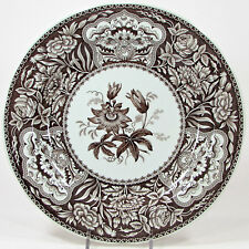 "Spode England ARCHIVE COLLECTION - GEORGIAN FLORAL 10.5"" Dinner Plate Brown Mint"