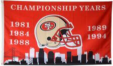 San Francisco 49ers NFL Super Bowl Championship Flag 3x5 ft Football Banner