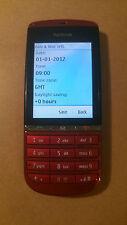 Nokia Asha 300 Red Unlocked Smartphone 5MP Digital Camera MP3 Player UK I