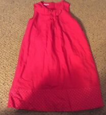 Boutique DP 10 ANS Girls Red Lined Jumper Dress Size 10 /138 CM VGUC