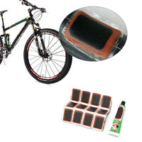 48pcs Bike Bicycle Tire Kit Patches Repair Glue Tyre Tube Rubber Puncture Kit