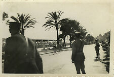 PHOTO ANCIENNE - VINTAGE SNAPSHOT -VÉLO CYCLISME TOUR DE FRANCE 1936 NICE POLICE