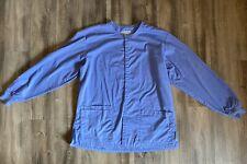 Women's Wonder Wink Warm Up Scrub Jacket Ceil Blue Medium