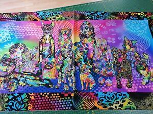 Los paneles de Cojín Gatos 18x18 6 paneles £ 4.99 100/% algodón
