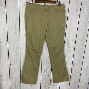 "Puma USP Women's Size 8 (32"" Waist) Khaki Beige Golf Pants 31"" Inseam"