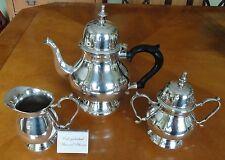 Tee- Kaffee-Set Tee-Kaffee-Kern Teekanne Kaffeekanne Milch-Zuckerset versilbert