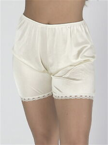 New Ladies' Polyester Petti pants Bloomers with Lace Black