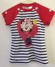 New! Minnie Mouse Rash Vest Size 5