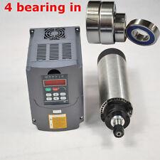 1.5KW ER16 Air-cooled Spindle Motor 80mm Four Bearing & 1.5KW Inverter VFD