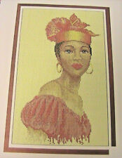 BEAUTIFUL BLACK LADY of SOUTHERN ROOTS RARE & OOP~cross stitch graph
