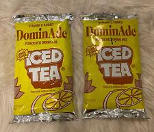 Lot Of 2 DominAde Iced Tea Lemon Flavor Powdered Drink Mix 23.4 Oz Each