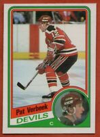 1984-85 O-Pee-Chee #121 Pat Verbeek NEAR MINT+ ROOKIE RC New Jersey Devils