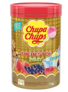 CHUPA CHUPS 150 Best Lollipops Assorted Flavour Bulk Lollies Jar April 22 Expire