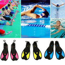 AL_ Kids Adults Full Foot Water Fins Diving Swim Training Learning Flippers Eyef