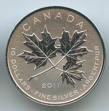GS1435 Kanada 10 Dollars 2011 KM#1158 Canadian Maple Leaves 1/2 Oz 999.9 Silber