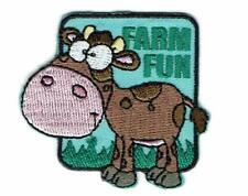 Girl Boy Cub FARM FUN Cow Patches Crests Badges SCOUTS GUIDE visit tour day