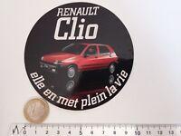 AUTOCOLLANT AUTO RENAULT CLIO PLEIN LA VIE VINTAGE STICKER RACING DECAL CAR 5
