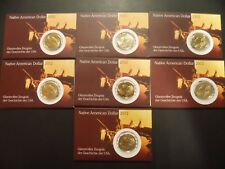 7 X Native American Dollar 2012 - Stempelglanz - Wendeprägung 7 X 1 Dollar