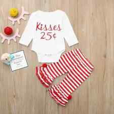 NEW Valentine's Day 25 ¢ Kisses Baby Girls Ruffle Pants Outfit Set