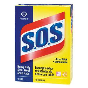 S.O.S HEAVY DUTY STEEL WOOL SOAP PADS (180 PADS PER BOX)