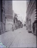 TUNISIE Tunis une Rue c1900, NEGATIF Photo Stereo Plaque Verre VR8L4n7