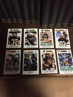 Steelers Kiwanis Coca Cola Police Mcdonalds Football Card Lot of 30 Different