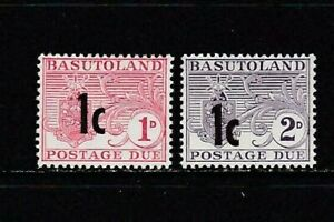 set of 2 mint Postage Due stamps from Basutoland. 1961