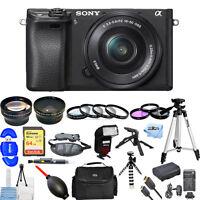 Sony Alpha a6300 Mirrorless Digital Camera W/ 16-50mm Lens!! MEGA BUNDLE NEW!!